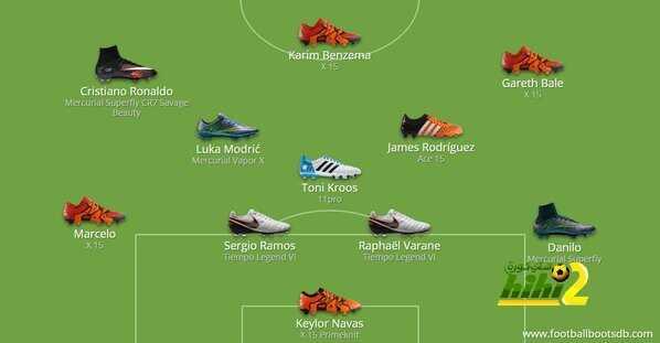 131f336a7 صورة : تشكيلة ريال مدريد في الكلاسيكو من خلال أحذية اللاعبين - هاي كورة